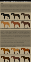 Thoroughbred Color Chart by Prongy