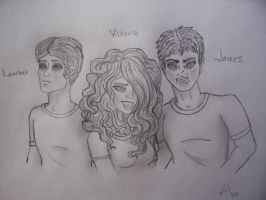 Laurent, Victoria, James C.P. by AlikatPunkRocker