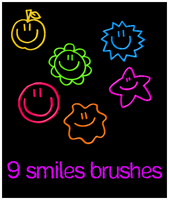 9 smiles brushes by Sweet83