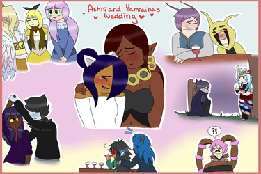 PKMN SC| Ashni and Yamraiha's Wedding Collage by Minish-Mae