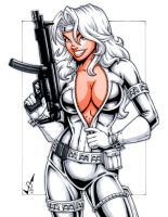 Silver Sable commission by gb2k