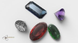 Precious Gemstones by Bahr3DCG