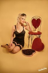 Andrea Valentines Day Pinup by vivavanstory