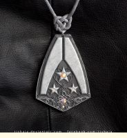 Alliance Navy pendant by tishaia