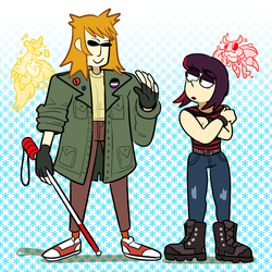 Rae And Gina by Strontium-Chloride