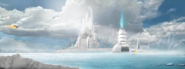 Crystal Ice city by archiejacinto