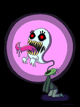 Pixel Ghost (Compixellated challenge) by SymbolsWriter