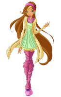 Flora Zenith Dress 7 season by WinxClubRus