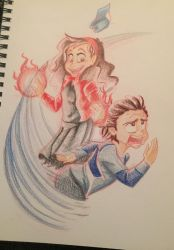 GF-Scarlet Mabel and QuickDipper by DeathByMarshmallows
