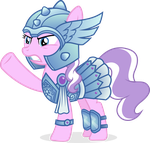 Diamond Tiara, Warrior Princess by punzil504