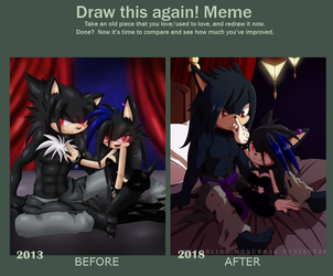 Before and After: Cazreal by Snowblind-Monubone