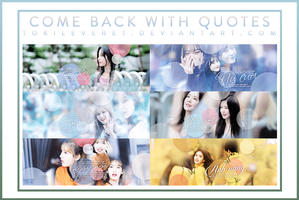 [13/10/2017] Share PSD - Come Back With Quotes by TokiLeveret