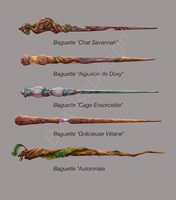 Some Wands in Harry Potter Style #3 by MissDesign33