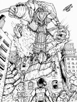 Godzilla Neo vs RDC's Gamera by Deadpoolrus