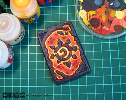 Hearthstone card back - Molten Core #1 by MonkeysToybox