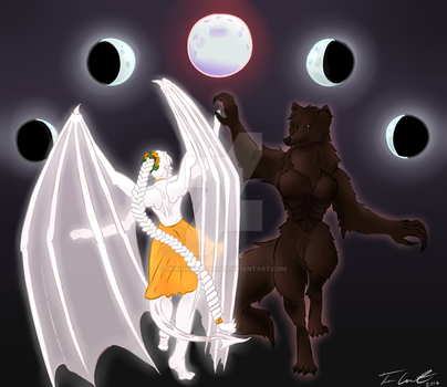 Solstice Born Wolf and Itisha by Insanitys-Child