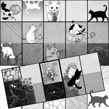 Find 14 Cats by Chihyro