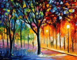 Holiday Mood by Leonid Afremov by Leonidafremov