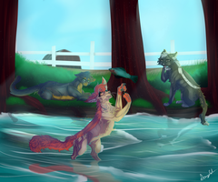 Fishing with Style Ych by LiLPupSpongeCake