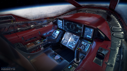 Light Fighter Cockpit by Vattalus