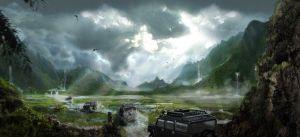 jurassic park wasteland drive by chicagocubsfan24