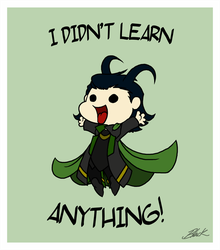 I didn't learn anything - Loki by caycowa