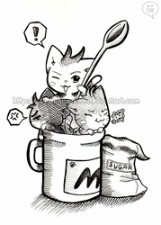 -cats in the cup- by SuperMisurino