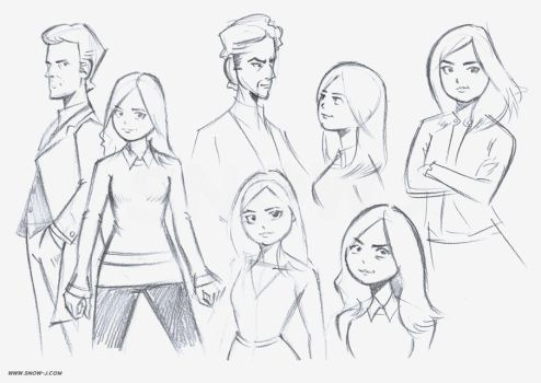 Clara Oswald sketches / studies by snow-j