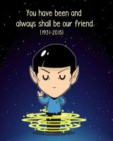 Farewell, Mr. Spock by Shanachie-fey
