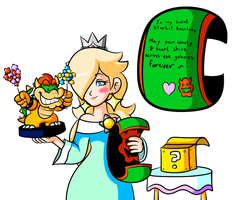 Commission - Rosalina's Bowser Gift by JamesmanTheRegenold
