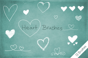 Heart Brushes by byjanam