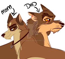 Balto's Parents by Wolf-Chalk