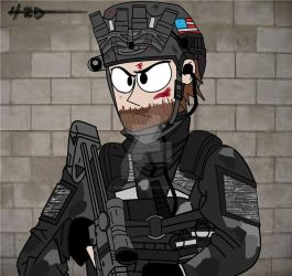 Seal Team Six Soldier by ZEPHYRDICKY