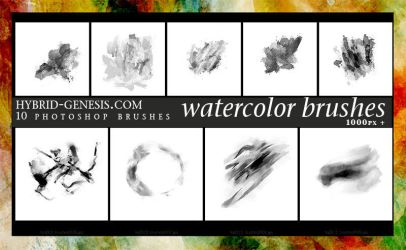 HG Photoshop Watercolor Brushes (3) by In5omn1ac