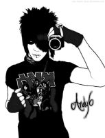 Andy Six Tablet Drawing by xIch-brech-ausx