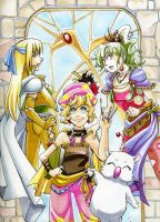 Final Fantasy VI Girls by glance-reviver