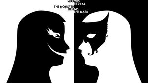Wallpaper - Monster behind the mask by Soniop