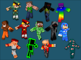 Minecraft player skins by Beholderr
