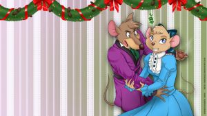 Join me under the mistletoe - wallpaper 1366x768 by Raygirl13