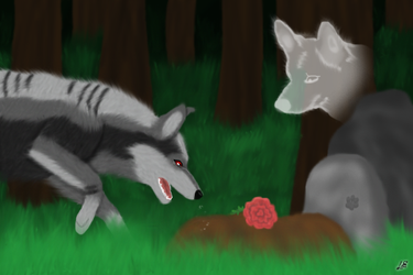 The Wolf and The Grave by RuushiiCZ