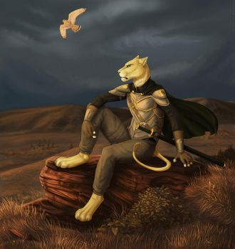 One woman alone (furry version) by Tacimur