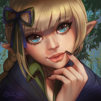 Commission: Silvernis by AmberHarrisArt