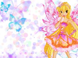 Winx Club Stella Butterflix Walpaper by TheMgic1275