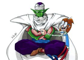 Piccolo Jr. and Wacky Jackie by MikeES