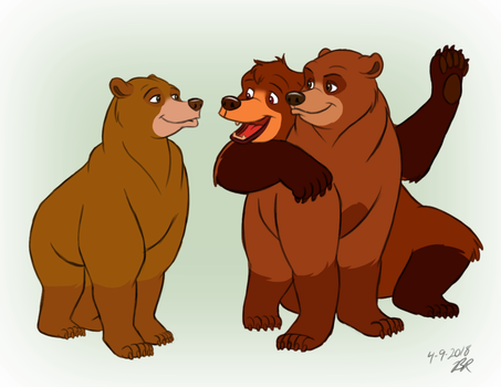 Brother Bear Family by thieviusracoonus