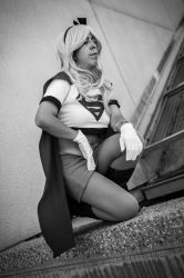 Different crouch kneel black and white pose by TheTinyBishie