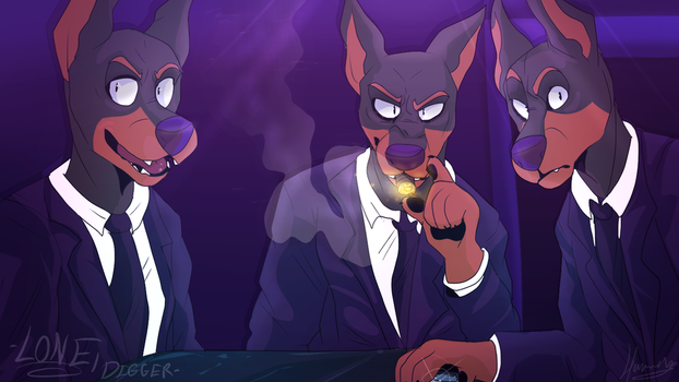 Lone Digger - Hounds - Redraw by Choco-Floof