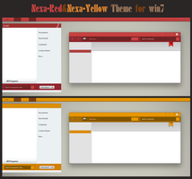Nexa-Red, Nexa-Yellow For Win7 by Cleodesktop