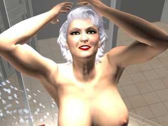 Granny in shower 2 by spartanavis