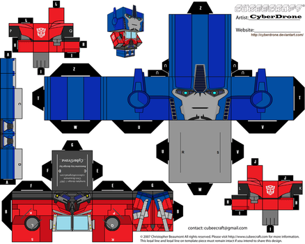 Cubee - Optimus Prime 'TF- Prime' v1 by CyberDrone